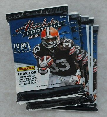 Panini 2012 Nfl Absolute Football Lot Of 24 Retail Packs New & Sealed