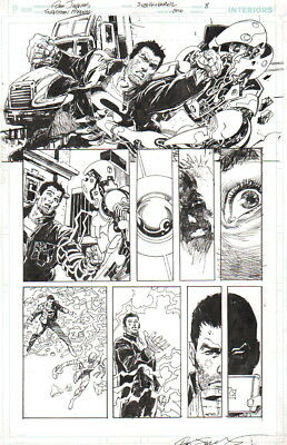 Dan Jurgens/ Bill Sienkiewicz 2016 Superman, Flash Original Art-Free Shipping!