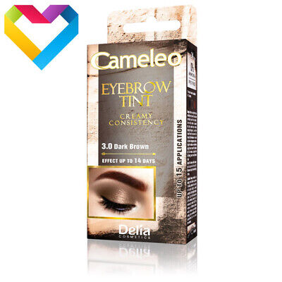 DELIA CAMELEO CREAM EYEBROW HENNA TINT 3.0 DARK BROWN 15ml