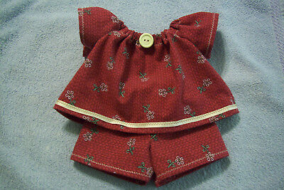 Doll clothes handmade for Cabbage Patch 14 inch dolls; Burgundy set (0920A)