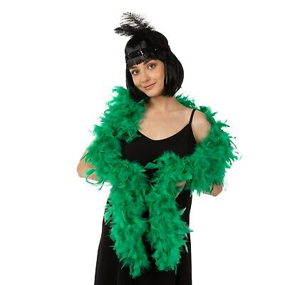 Feather Boa Thick Luxury High Quality Green 80G Gatsby School Event Flapper Uk