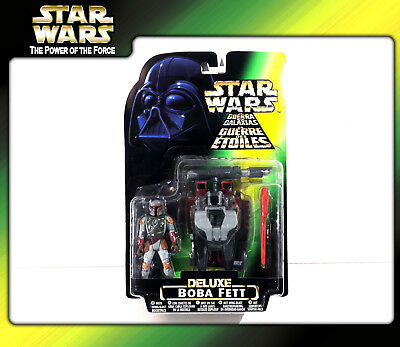 STAR WARS Power of the Force (POTF2): Deluxe Boba Fett with Rocketpack (OVP)
