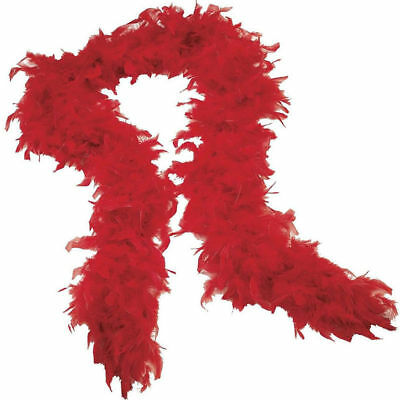 Feather Boa Thick Luxury High Quality Red Christmas Party 80G Gatsby Flapper Uk