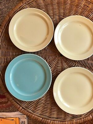 Lu-Ray Pastel dessert plates collection of 4