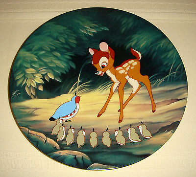 Disney Classic Film BAMBI & Delightful Friends BAMBIS MORNING GREETINGS Plate