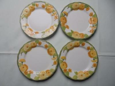 "Lot of 4 Metlox Poppy Trail Sculptured Zinnia 7-1/2"" Salad Plates"