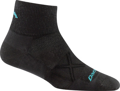 Darn Tough W's Vertex 1/4 Sock Ultra-Light Cushion, Black, M