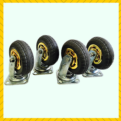 4X 6inch 150mm Heavy Duty Swivel Caster Castor Wheel Load 1000KG Rubber