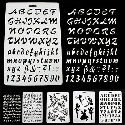 Alphabet Number Layering Stencils Painting Scrapbooking Paper Cards Craft HIGH