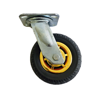 1PC 6inch 150mm Castor Wheel Heavy Duty Swivel Solid Rubber 250 kg Load Trolley