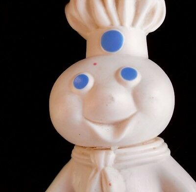 Vintage 1971 Poppin Fresh Pillsbury Playthings Soft Squeezable Doughboy Figurine