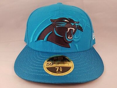 Carolina Panthers NFL New Era 59FIFTY 2016 Sideline Hat Fitted 7 5 8 Low  Profile 984ecf68b509