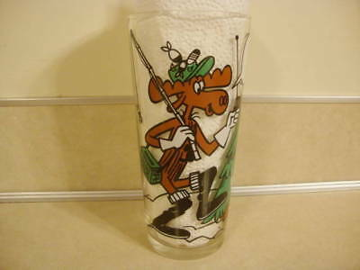 Vtg Bullwinkle & Rocky Squirrel Drinking Glass Pizza Hut CB Series How's Tide!