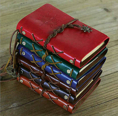Pirate Retro Vintage Pocket Leather Notebook Kraft Diary Travel Journal #B31
