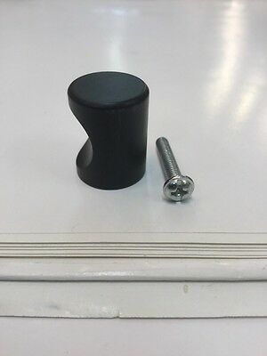 Matt Black Cylinder Knob Kitchen Cupboard Drawer Knobs Pull Small Handle New