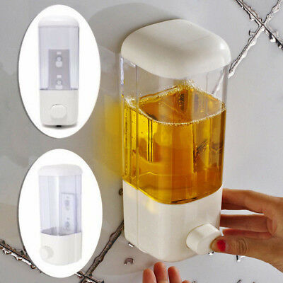 500ml Wall Mount Soap Dispenser Bathroom Shower Lotion Shampoo Liquid Sanitizer