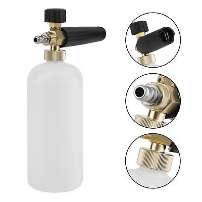 Adjustable Snow Foam Lance Washer Soap Mixer 1L Plastic Bottle Gun Car FM