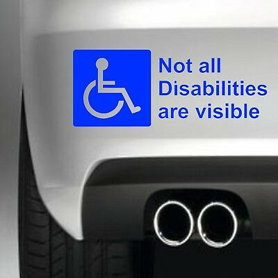 Not All Disabilities Are Visible STICKER CAR WINDOW STICKER DECAL