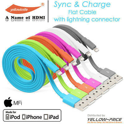 6X iPhone 6 5S 5C iPad 4 Mini 3 Air 2 Certified Lightning Charging Data Cable 1M