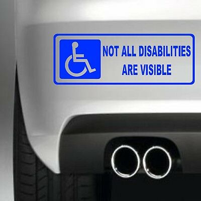 Not all Disabilities are visible (Style 2) STICKER CAR WINDOW STICKER DECAL