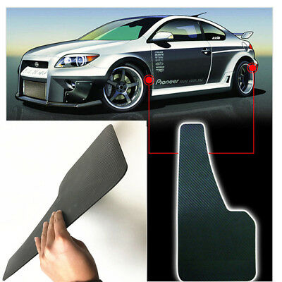 2X Universal Racing Car Mudflaps Wheel Moulding Fender Mudguard Custom Black ABS