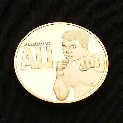 """Art Craft Gifts Boxing Champion """"MUHAMMAD ALI"""" Gold Medal Commemorative Coins UK"""