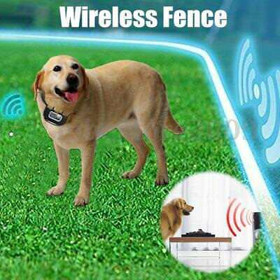 Wireless Electric Dog Collar Fence Containment Waterproof Transmitter Training