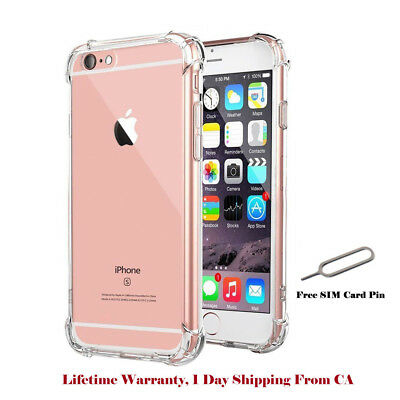 D&Z For Apple iPhone 8 7 Case Clear Hybrid Slim Shockproof Soft TPU Bumper Cover
