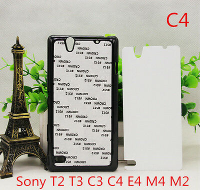 5pcs PC blank 2D plastic Sublimation printing Cover case for Sony Whole Series