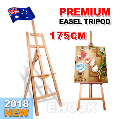 175cm Pine Wood Easel Artist Art Display Painting Shop Tripod Stand Adjustable