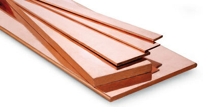 Copper Flat Bar Plate busbar Strip many sizes available and thicknesses -  C101