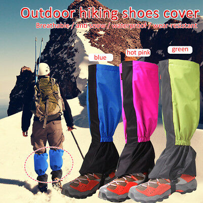 Waterproof Outdoor Hiking Climbing Snow Legging Strong Gaiters Protective Cover