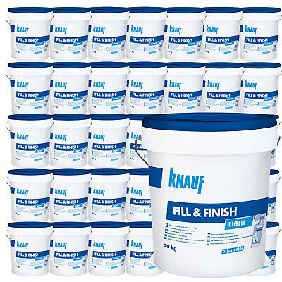 30 x KNAUF Sheetrock Fill & Finish Light 20kg Füllmasse Spachtelmasse Spchatel