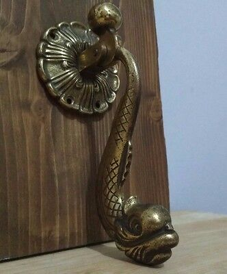 Vintage Brass Asian Fish Door Knocker
