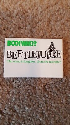 Beetlejuice promo button.Boo!Who? Movie