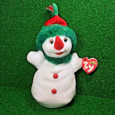 MWMT TY Beanie Baby Rare NEW RETIRED 1996 SNOWGIRL The 'Snowman' - FREE Shipping