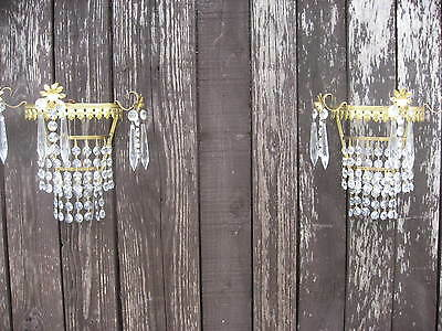 A Pair Of Vintage Deme Lune Wall Lights Fully Working Superb Quality /3912