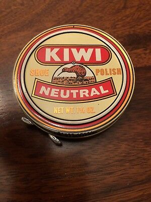 Vintage New Old Stock Kiwi Shoe Polish Neutral 1 1/8 Ounce