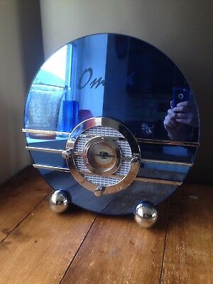 Mib Omega Bluebird 1936 Radio Cassette Player Model 11070 Art Deco Chrome Diner