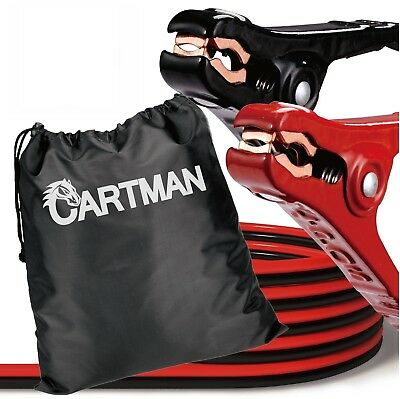 Cartman Booster Cables in Carry Bag (10AWG x 12Ft)Heavy Duty ,Travel Jumper