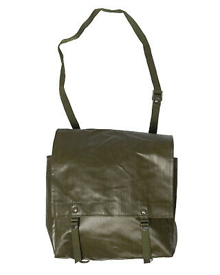 Genuine Czech Army M85 Olive Bread Bag Rubberised Shoulder Messenger Bag Grade 1