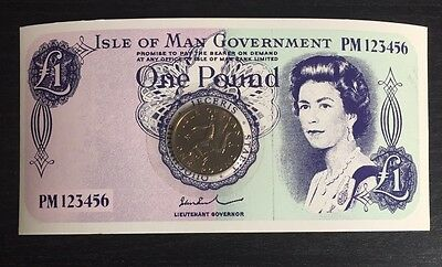 1978 £1 Coin Isle of Man World's First One Pound Virenium Coin On Card