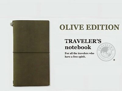 Olive Edition Travelers Notebook Authentic Midori Brand 2017 New Open Box