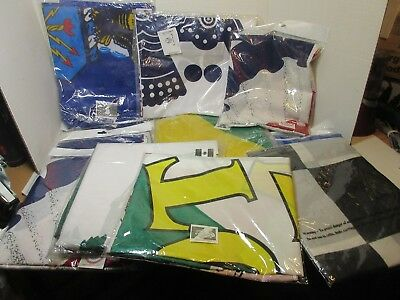 """Grab Bag of 12 ( One Dozen) Flags """"New"""" 5'x3' Most sealed in Bags Assorted"""