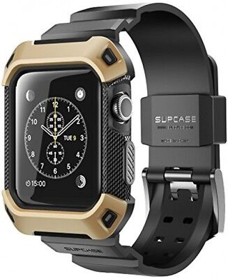 For 38mm Apple Watch 2 Case With Strap Bands Rugged Protective Bumper Cover Gold