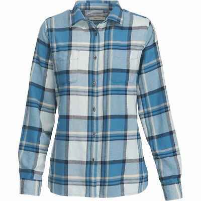 Woolrich The Pemberton Flannel Shirt, Womens, French Blue Check, M
