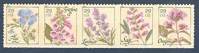 4505-4509 Herbs Strip Of 5  Mint/nh (Free Shipping)