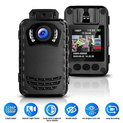 1296P HD Mini Police Safety Camera IR Night Vision Body Cam Recorder Infrared US