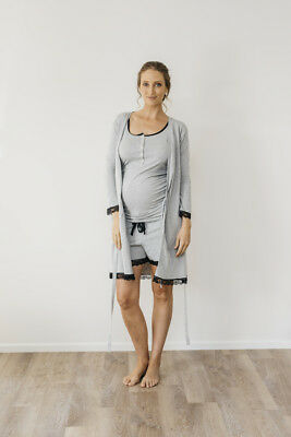 NEW robe in grey marle Maternity