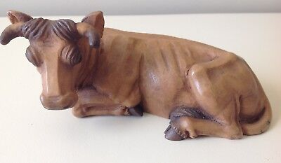 """Anri Kuolt Vintage  6""""  Oxen Nativity Woodcarving Ox  ----  Mint Condition"""